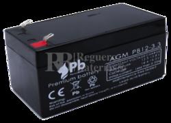 Batería 12 Voltios 3.3 Amperios PB12-3.3 Premium Battery