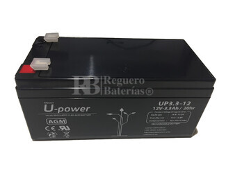 Batería 12 Voltios 3,3 Amperios U-power UP3.3-12