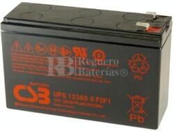 Batería 12 Voltios 360 Watios Csb UPS12360-6F2/F1
