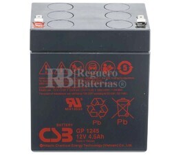 Batería 12 Voltios 4,5 Amperios Csb GP1245