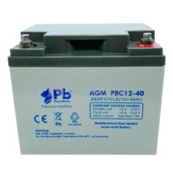 Batería 12 Voltios 40 Amperios PBC12-40