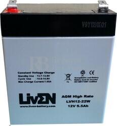 Batería 12 Voltios 5,5 Amperios LVH1222W