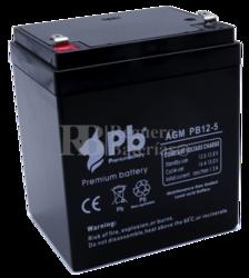Batería 12 Voltios 5 Amperios Premium PB12-5
