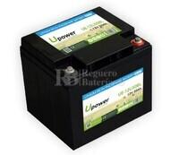 Batería Litio 12 Voltios 50 Amperios control Bluetooth UE-12Li50BL