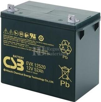 Batería 12 Voltios 52 Amperios CSB EVX12520