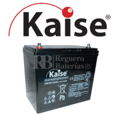 Batería 12 Voltios 55 Amperios Kaise High Rate KBHR12550