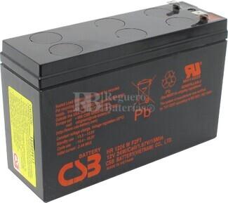 Batería 12 Voltios 6,5 Amperios Csb HR1224 WF2F1