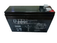 Batería 12 Voltios 6 Amperios U-power UP6-12