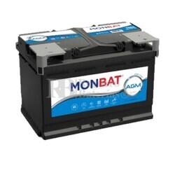 Batería Coche 12 Voltios 60 Amperios MONBAT Start-Stop AGM 60Ah