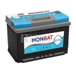 Batería Coche 12 Voltios 60 Amperios MONBAT Start-Stop EFB J 60Ah