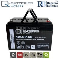Batería 12 Voltios 63 Amperios 12LCP-60 Cíclica