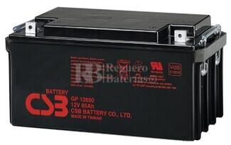 Batería 12 Voltios 65 Amperios CSB GP12650