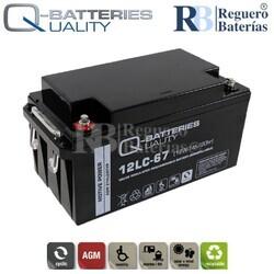 Batería 12 voltios 67 Amperios 12LC-67 Alta Potencia
