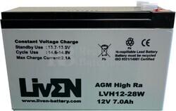 Batería 12 Voltios 7,2 Amperios Alta descarga LVH12-28W