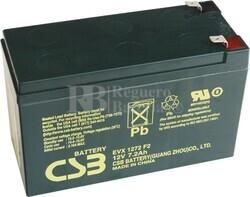 Batería 12 Voltios 7,2 Amperios Csb EVX1272F2