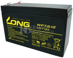Batería 12 Voltios 7,2 Amperios Long WP7.2-12