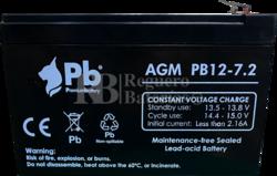 Batería 12 Voltios 7.2 Amperios PB12-7.2