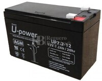 Batería 12 Voltios 7.2 Amperios U-Power UP7.2-12