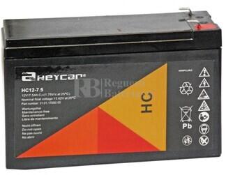 Batería 12 Voltios 7,5 Amperios Heycar HC12 7.5