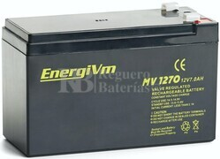 Batería 12 Voltios 7 Amperios Energivm MV1270
