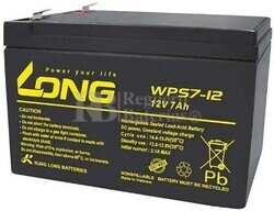 Batería 12 Voltios 7 Amperios WPS7-12 Long