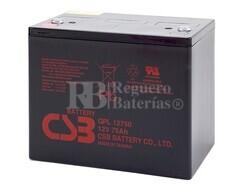 Batería 12 Voltios 75 Amperios CSB GPL12750