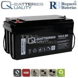 Batería 12 Voltios 80 Amperios 12LC-80 Alta Potencia