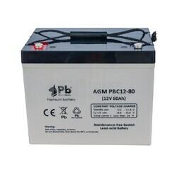 Batería 12 Voltios 80 Amperios PBC12-80