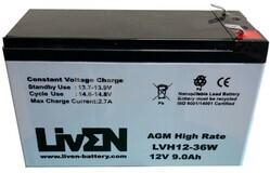 Batería 12 Voltios 9 Amperios alto rendimiento LVH1236W