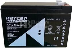 Batería 12 Voltios 9 Amperios Heycar HA12-9