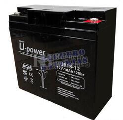 Batería 12 Voltios 18 Amperios para Pastores Eléctricos