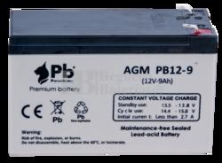 Batería 12 Voltios 9 Amperios Premium Battery PB12-9