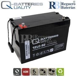 Batería 12 Voltios 93 Amperios 12LC-92 Alta Potencia