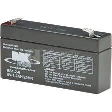 Bateria 6 Voltios 1,2 Amperios MK ES1.2-6