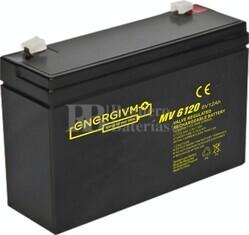 Batería 6 Voltios 12 Amperios Energivm