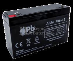 Batería 6 Voltios 12 Amperios PB6-12 Premium Battery