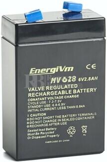 Batería 6 Voltios 2,8 Amperios Energivm MV628