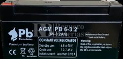 Batería 6 Voltios 3.2 Amperios PB6-3.2 Premium Battery