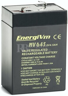 Batería 6 Voltios 4.5 Amperios Energivm MV645