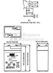 Bateria 6 Voltios 4 Amperios MK ES4-6