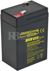 Batería 6 Voltios 5 Amperios Energivm MVH650