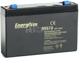 Batería 6 Voltios 7 Amperios Energivm MV670