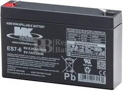 Bateria 6 Voltios 7 Amperios MK ES7-6