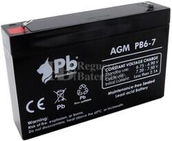 Batería 6 Voltios 7 Amperios Premium Battery PB6-7