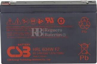 Batería 6 Voltios 9 Amperios Csb HRL634WF2