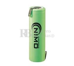 Batería AA 1.2 Voltios 2,5 Amperios NiMh S con Lengüetas