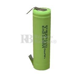 Batería AA 1.2 Voltios 2 Amp NiMh recargable C/Lengüetas