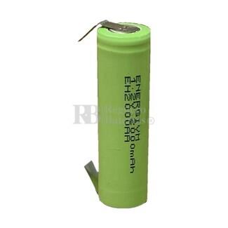 Batería AA 1.2 Voltios 2 Amp NiMh recargable C-Lengüetas