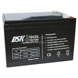 Batería AGM 12 Voltios 12 Amperios DSK