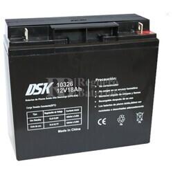 Batería AGM 12 Voltios 18 Amperios Alta Descarga DSK
